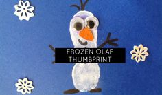 Who doesn't love the movie Frozen?  We've got a cute Olaf thumbprint craft for you!