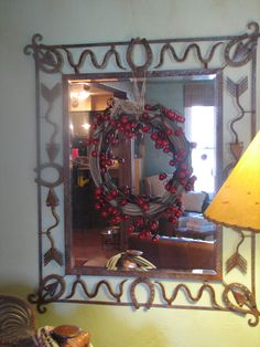 love the mirror and love the rope with red bells for Christmas decoration