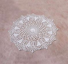White Hearts Crochet Lace Doily Romantic Table Decor Valentines Day by NutmegCottage on Etsy