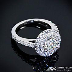 Double Halo Diamond Engagement Ring