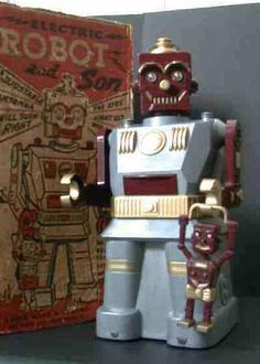 """Marx Electric Robot and Son """"Blue"""""""