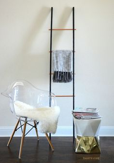 DIY Copper Ladder {By Two Thirty-Five Design}