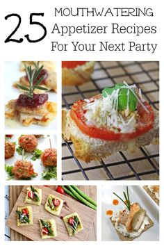 25 Mouthwatering Appetizer Recipes for Your Next Party ~ Aren't the apps just the very best part of party food? Here are gorgeous, totally drool-worthy recipes your guests will rave about! ~ from Wanna Bite