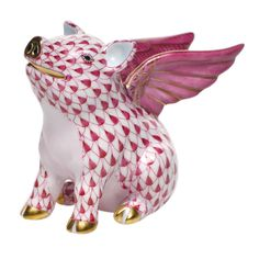 """When Pigs Fly [SVHP--15299-0-00] 3""""L X 2.5""""H  Reminded me of my beloved late """"Pewee"""" (pet pig) and grandpa :)"""