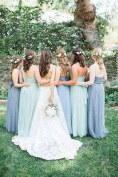 Sweetly Elegant Blue And White Wedding