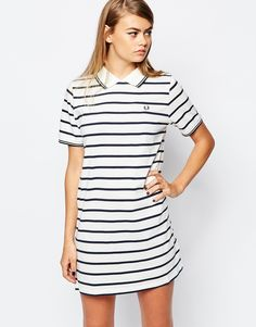 Image 1 - Fred Perry - Robe polo à rayures