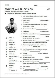 Movies vocabulary English - Repinned by Chesapeake College Adult Ed. We offer free classes on the Eastern Shore of MD to help you earn your GED - H.S. Diploma or Learn English (ESL). www.Chesapeake.edu
