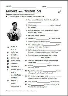 Movies vocabulary english