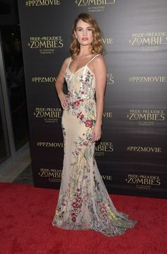 """Lily James Photos - Actress Lily James attends the premiere of Screen Gems' """"Pride And Prejudice And Zombies"""" on January 21, 2016 in Los Angeles, California. - Premiere of Screen Gems' 'Pride And Prejudice And Zombies' - Arrivals"""
