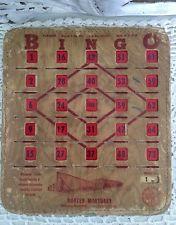 VTG Advertising Long Beach Mortuary Cardboard & Plastic BINGO Lot Of 2 Cards