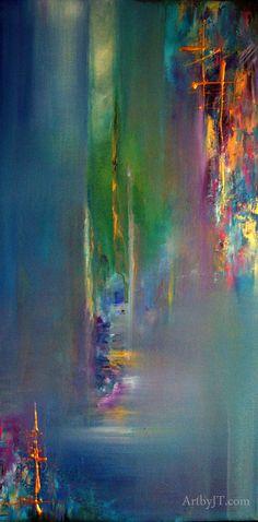 Acrylic on stretched canvas, 30x15, gloss UV varnish