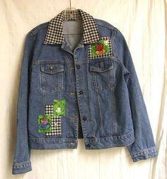 Denim Jacket for Coffee Lovers! sz. M/L #Handmade #JeanJacket
