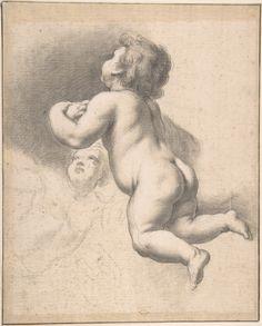 Anonymous, Italian, Roman-Bolognese, 17th century | Cherubs | The Met