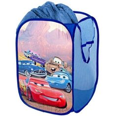 Walmart: Disney - Cars Pop-Up Hamper - Use current hamper and toy bin for gift wrap/bag storage WIN-WIN Disney Cars Bedroom, Disney Bedding, Car Bedroom, Bedroom Ideas, Kids Bedroom, Pop Up Frame, Car Radiator, Baby Pop, Delta Children