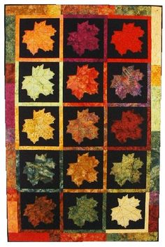 Maple Leaves Quilt Pattern - The Virginia Quilter