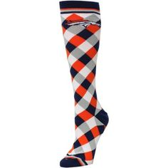 Denver Broncos Women's Orange 538 Diamond Stripe Socks