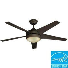 Hampton Bay Windward Ii 54 In White Ceiling Fan Energy Star Star Ceiling And Ceiling Fan