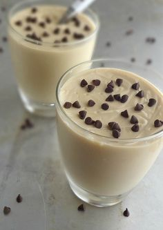 The Cooking Actress: Chocolate Chip Cookie Dough Pudding Pudding Desserts, Pudding Recipes, Cookie Desserts, Fun Desserts, Chocolate Chip Pudding Cookies, Chocolate Chips, Cookie Dough To Eat, Custard Pudding, Yummy Cookies