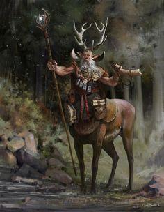 A druid calls, Vlad Gheneli on ArtStation at https://www.artstation.com/artwork/KG1Oo