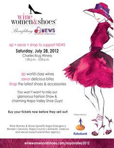 Wine, Women & Shoes Fashion show in Napa