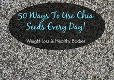 I bought chia seeds... now it is time to use them...I love them!