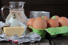 Ингредиенты для приготовления омлета как в детском саду