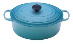 Le Creuset Signature Enameled Cast-Iron 5-Quart Oval French Oven, Caribbean by Le Creuset of America, http://www.amazon.com/dp/B0076NOM8A/ref=cm_sw_r_pi_dp_xNEsrb0YCJ6MT