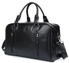 BAOSHA HB-12 Genuine Soft Leather Weekender Travel Bag Overnight bag Gym handbag ** Click image to review more details. (This is an Amazon Affiliate link and I receive a commission for the sales)