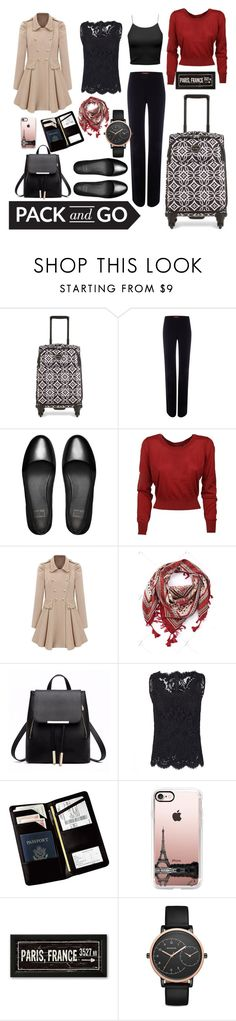 """""""Winter Trip to Paris"""" by lone-star-lady ❤ liked on Polyvore featuring Vera Bradley, MaxMara, FitFlop, Dolce&Gabbana, Royce Leather, Casetify and Skagen"""