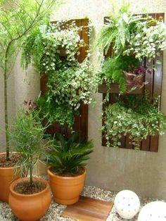 Beautiful Minimalist Vertical Garden For Your Home Backyard goodsgn com 47 Terrace Garden, Garden Art, Garden Design, Home And Garden, Balcony Gardening, Balcony Design, Small Gardens, Outdoor Gardens, Minimalist Garden