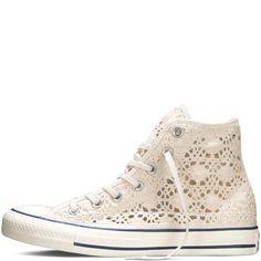 Chuck Taylor All Star Crochet Parchment/Egret/Navy