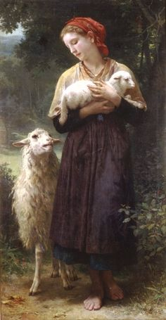 William Adolphe Bouguereau >> The Shepherdess 1873 165.1x87.6cm