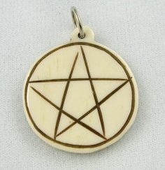The Pentagram has been used throughout history to represent protection of earth by spirit. Often associated with the feminine, from Venus to Mother Mary. The five elements. http://crystal-life.com/specials-1/celtic-collection/bone-pentagram-pendant