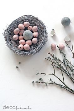 decofriends: Ostern in grau-rosa