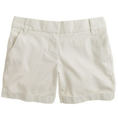 "J.Crew 5"" Chino Short ($44) ❤ liked on Polyvore featuring shorts, bottoms, pants, short, long shorts, chino shorts, short shorts, j. crew shorts and zipper shorts"