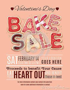Valentines Day Bake Sale flyer template