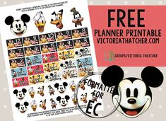 Free Printable Disney Countdown Planner Stickers from Victoria Thatcher