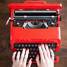 """""""Dear Valentine, this is to tell you that you are my friend as well as my Valentine, and that I intend to write you lots of letters,"""" says the user guide of the familiar red typewriter."""