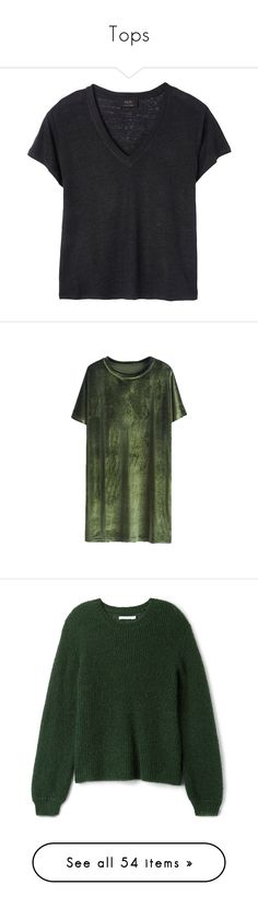 """""""Tops"""" by tamara-40 ❤ liked on Polyvore featuring tops, t-shirts, shirts, linen t shirt, maxi top, maxi t shirt, linen tee, linen tops, dresses and green dress"""