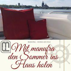 Wenn es draußen  langsam warm wird, freuen wir uns auf den Sommer.  Holt euch ein bisschen Sommer ins Haus.  www.manufra.de ☀️ #manufra #sommer #kissen #köln #kölnerdom #filz #handmade #nähenmachtglücklich #ökologisch #nachhaltigkeit #maritim #homedecor #livingroomdecor #selfmade #nähenmachtglücklich #feltdesign Throw Pillows, Bed, Home Decor, Sustainability, Home Decor Accessories, Pillows, Summer, Toss Pillows, Decoration Home