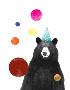 Circus Bear Art Print by Mostaza Seed Graphics - X-Small Framed Art Prints, Canvas Prints, Bear Illustration, Bear Print, Birthday Images, Art Paintings, Artsy, Wall Art, Patterns