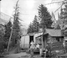 A miner's home in Colorado :: 1890