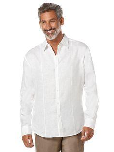 100% Linen Long Sleeve Front Tuck Shirt