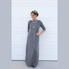 το απολυτο κλασικο φορεμα που θα ραψετε μονες σας με αναλυτικες οδηγιες και συμβουλες, ραπτικη για ολους στο σπιτι, tutorials Dresses For Work, Sewing, Stitches, Patterns, Fashion, Block Prints, Moda, Dressmaking, Stitching