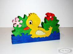 Puzzle en bois, canard, fleur, village, jouet enfant