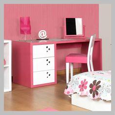 Escritorio rojo em 02 1 moderno escritorio en madera color for Silla escritorio nina