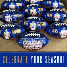 These full size custom footballs are the perfect way to celebrate your graduating seniors, thank coaches or to commemorate your championship year. Available in one or two sides of personalization and ready to ship in 10 days.