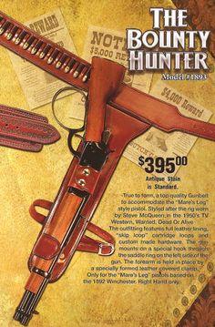 Western Gun Holsters custom made by John Bianchi - Bounty Hunter