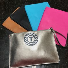 Cute wristlets clutches purse pink turquoise black brown metallic silver free shipping $15