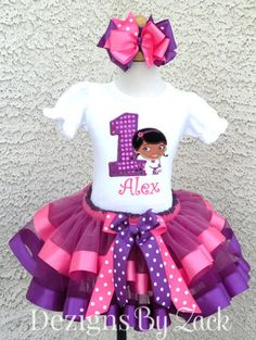 Pink-Purple-Polka-Dot-Doc-McStuffins-Elastic-Birthday-Tutu-Outfit.jpg (376×500)